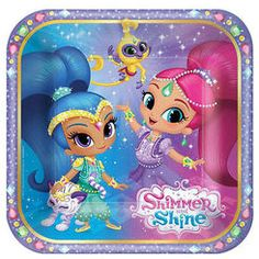 Shimmer and shine party plates