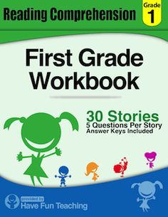 This First Grade Reading Comprehension Workbook includes 30 high ...