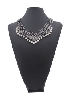 Couture Armour Chainmaille pearl necklace by Michael Witt.