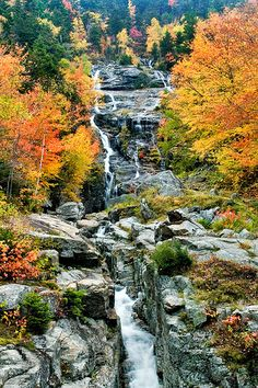 Silver Cascade, Crawford Notch, New Hampshire - approx. 5800 acres w/ picnic areas,  hiking trails, fishing
