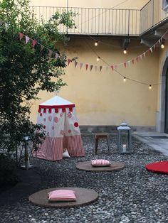 Tende da gioco per bambini. Progetto architetto rossellalochis