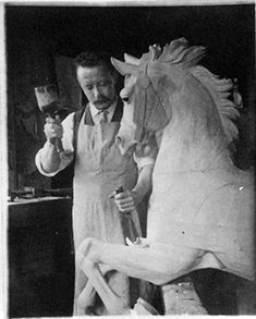 With formal training at at Pennsylvania Academy of Fine Arts. Daniel Muller is known as one of the finest of the great American carousel horse carvers.