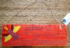 Distressed Thanksgiving hanging sign on Etsy, $16.00
