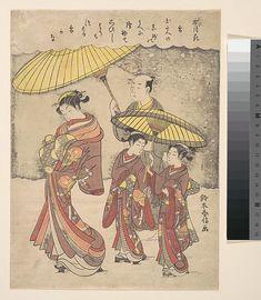 Suzuki Harunobu (Japanese, 1725–1770). Snow, ca.1769. The Metropolitan Museum of Art, New York. Henry L. Phillips Collection, Bequest of Henry L. Phillips, 1939 (JP2774). #snow #winter