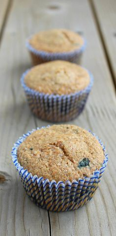 Blueberry Wheat Bran Muffins - Special for my sweetie... he approves so, next time, I'm trying with raspberries!