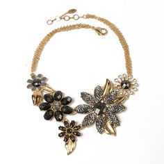 Della Floral Evening Necklace