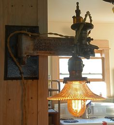 Antique Glass Cutter Sconce.