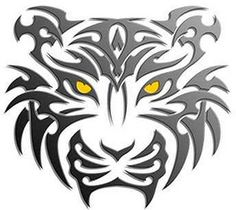 tribal tiger tattoo design art