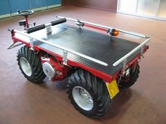 Special Multipurpose Vehicle FRESIA F18 4x4 Red Version Many models available in our Workshop www.motorsportloralamia.com Small Tractors, Compact Tractors, Gas Powered Scooters, Welding Trailer, Homemade Tractor, Diy Go Kart, Little Truck, Army Vehicles, Car Gadgets