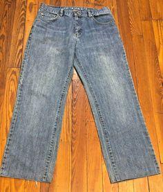 Nautica Jeans Co Boys 18 Black Stone Wash Loose Fit Straight Leg W29 25L Kids