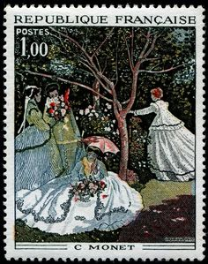 Art & Paintings on Stamps - Monet