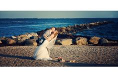 Land's End couple on our waterfront beach #wedding #venue #beach #waterfront #longisland #newyork #realweddings
