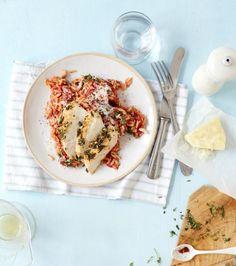 Rezept: Pastasotto mit Kräuter-Hähnchen - [LIVING AT HOME]