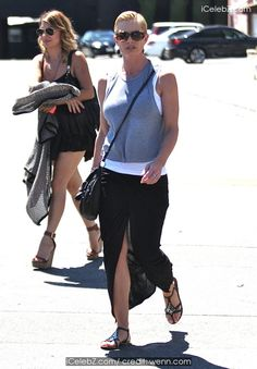 Jaime Pressly Out with a friend in Hollywood http://icelebz.com/events/jaime_pressly_out_with_a_friend_in_hollywood/photo1.html