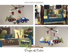 Baby Crib Mobile Baby Boy Mobile by dropsofcolorshop on Etsy