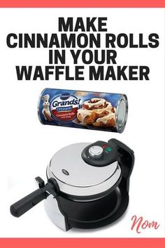 make cinnamon rolls in your waffle maker