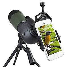 Wow, this is cool. Mount your smart camera phone to  this spotting scope.  Good gift for outdoors Dads, Grads. On Sale at Amazon was $209 now is $130! Gosky 20-60X 80 Porro Prism Spotting Scope - Waterproof Spotting scope for Outdoor Activities -45-Degree Comfortable Angled Eyepiece - with Tripod and Digiscoping Adapter - Get the World into Screen  http://amzn.to/2pVs6OL