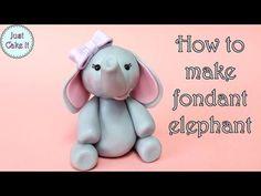 How to make fondant elephant / Jak zrobić figurkę słonia z masy cukrowej - YouTube