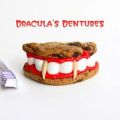 Dracula's dentures: chocolate chip cookies and marshmallows and a whole lot of creativity!