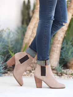 new arrival 25835 4ef5a cool Fall booties in smok Fall Booties, Bootie Boots, Heeled Boots, Shoes  Heels