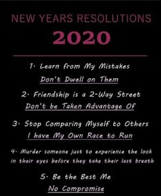 What better a way to kick of 2020 with some inspirational resolutions...and maybe a little murder if I have to time.