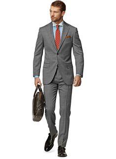 Suit Grey Plain Napoli P3752i | Suitsupply Online Store