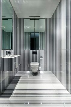 Solid lines for a #luxury bathroom design that sets the scene for serenity