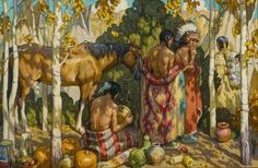 Tim Solliday - Horse Trading; Medium: oil on canvas kp