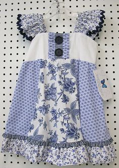 Blue and White Swing Top  by Ivey Crenshaw ....pattern by Such a Girl