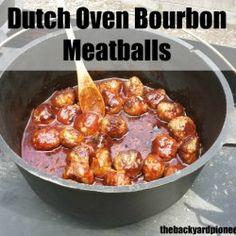 Dutch Oven Bourbon Meatballs
