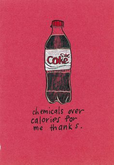 diet coke: chemicals over calories