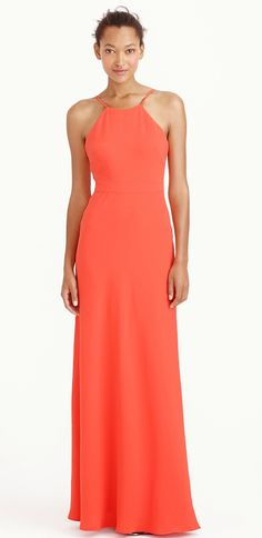 Great color! Modern orange bridesmaid dress from J.Crew