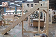 長さ260cmのロフトベッドとスベリ台 1402056 | オーダーベッド製作実績・ロフトベッド・二段ベッド 【マイスター・マトバ】