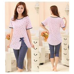 Cheap pyjamas women, Buy Quality night suit directly from China summer pijama Suppliers: NEW Summer Style Pajama Female Women Nightwear Pijamas Summer Pijamas Night Suit Sleepwear Pijama Feminino Pyjamas Women Night Suit For Girl, Night Dress For Women, Cute Pajamas, Summer Pajamas, Pyjamas, Night Gown Dress, Pijamas Women, Nights In White Satin, Fashion Desinger
