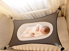 this newborn hammock attaches to your babies crib and is made to help reduce the environmental risk factors associated with sids  sudden infant death     crescent womb  infant safety bed   crescent womb newborn crib      rh   pinterest