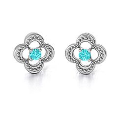 Shimmering Clover Earrings - personalize them for your bridesmaids with their birthstones or the color of their dresses. #weddings #bridesmaidgift  #jewlr
