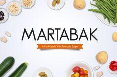 Martabak Font by Tosca Digital on Pretty Fonts, Beautiful Fonts, Cool Fonts, Professional Fonts, Modern Sans Serif Fonts, Creative Fonts, Font Family, Font Styles