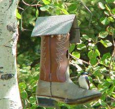 boot bird house