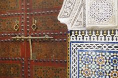 Classical Gate and Tilework - Medina (Old City) - Fez - Morocco