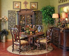 My favorite!!  Just dining table/chairs & sideboard.