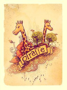 twin giraffe by thomasdian