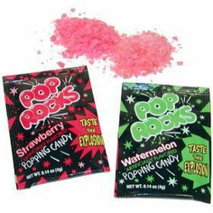 """Pop Rocks"" Popping Candy"