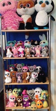Ty Animals, Ty Stuffed Animals, Stuffed Animal Cat, Beanie Boo Party, Ty Beanie Boos, Beanie Babies, Ty Plush, Ty Toys, Baby Storage