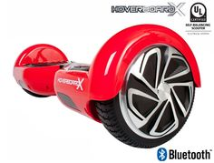 HoverboardX HBX-2 Red UL 2272 Certified with Bluetooth