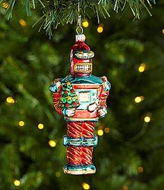Dillards Trimmings Santas Toy Bag 624 Robot with Tree Ornament #Dillards