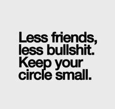 Keep your circle small