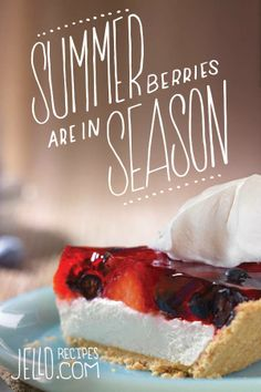 Summer Berries are in season. Cheesecakes are in season too. Coincidence.