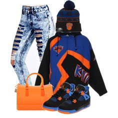 A fashion look from November 2014 featuring Boohoo jeans and Furla handbags. Browse and shop related looks.