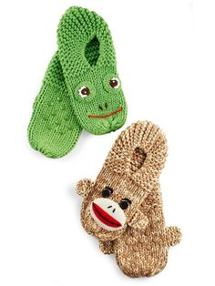 Retro sock animals are having a moment; these Frog and Monkey grippy slippers will make your niece the coolest girl in the dorm.
