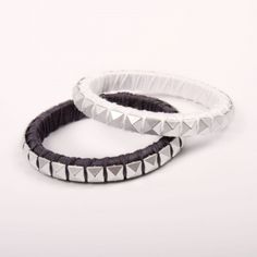 Pyramid Stud Bracelets #jewelry #DIY